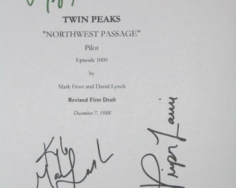 three s company signed tv screenplay script x5 autographs