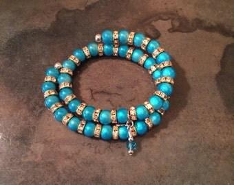Wire beaded bracelet