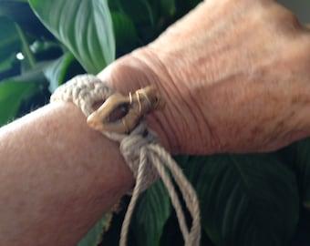 Hemp and Cholla Desert Bracelet