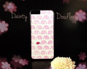 Cute Pink Elephant iPhone 6/6S Plastic Phone Case  / Phone storage / Gift