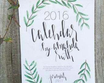 2016 Handmade Calendar