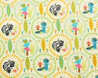 Riley Blake / Woodland Trails / Sheri Berry Design / Cotton Fabric / Cute Animals / Crafting Quilting Sewing Supply / Half Metre