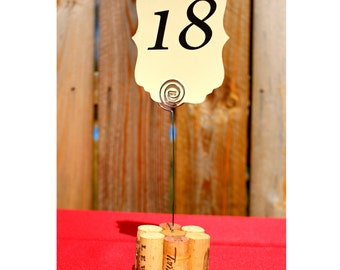 Wine Cork Table Number Holders - Set of 10