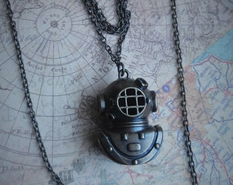 Long Layered Nautical Steampunk Necklace
