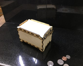 Wooden Compound Hinged keepsake box
