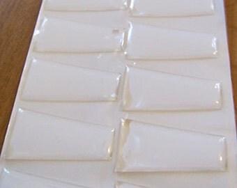 48 Lg Epoxy Trapezoid Cabochon Stickers