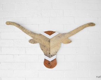 University of Texas / UT Longhorns Reclaimed Wood Wall Art - Wall Hanging