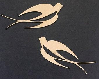 Swallow Birds Flat Lay Prop - Photo Prop - Scrap Booking - Craft Supplies