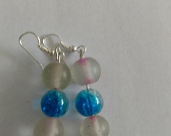Crystal waves earrings