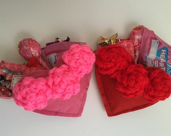 crocheted roses valentines