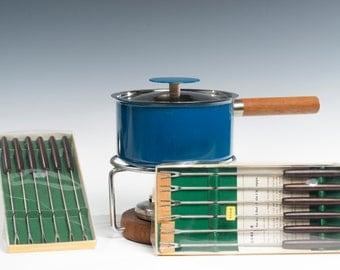 Complete Vintage Fondue Set
