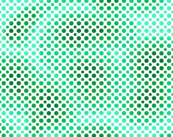 Quilting Treasures Fabric  - Ombre Dots - Green - Cotton fabric by the yard(s)