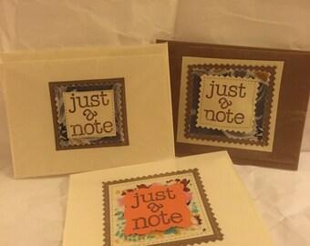 Handmade blank notecard with envelope