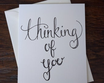 Thinking of You Hand-Lettered Love Card