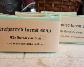 Enchanted Forest shea butter bar soap