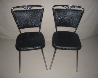 Set of Douglas Mid Century Modern Dining Chairs early Douglass Corporation Eaton 1950's Black