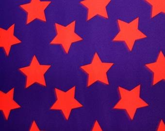 Star Print Lycra/Spandex 4 way stretch Matt Finish Fabric