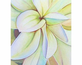 White dahlia flower, watercolor, original,ooak, 24x32 cm./9,4x12,6 inc., gift idea, wall art, home decoration, bedroom.
