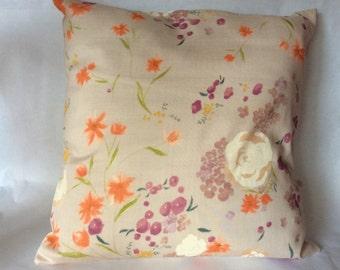 Japanese fabric Cushion cover Nani Iro flowers multico