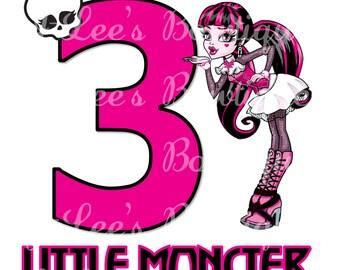 Monster High Birthday Customised Iron on Transfer
