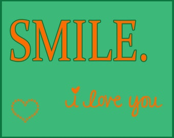 Smile I Love You Wall Decor S7