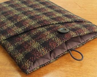 """MacBook 13"""" Pro Air cover case, laptop sleeve, British wool tweed"""