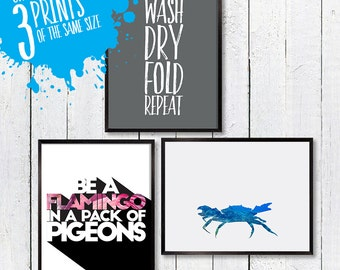 A Set of 3 Large Prints of you choice! Choose Any Three, Motivational, Typography Wall Art, Room Decor, Poster, A3 A2 11x14 12x18 16x20