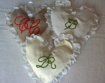 hearts to love, hand made in italy, to perfume clothes with lavender