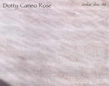 28ct Dotty Cameo Rose OOAK - Hand dyed linen for embroidery, broderie, cross stitch work (medium cut)