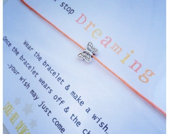 Wishing Bracelet 'Never Stop Dreaming' Wish Bracelet Gift