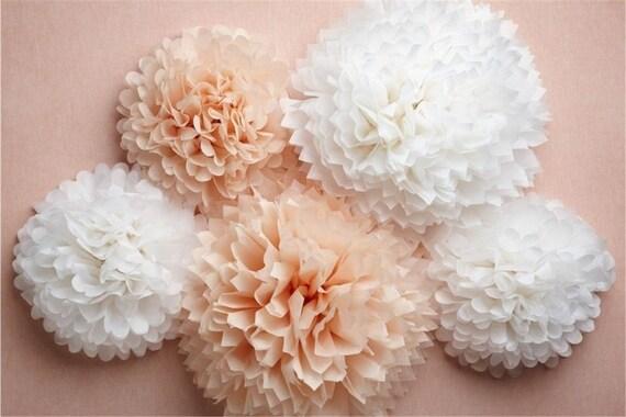 Paper Flower Balls For Wedding Paper Pompom 21 Tissue Paper Flower Balls Wedding Decoration Party