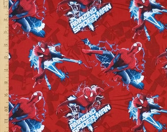 Spider Man Fabric, Marvel Comics Fabric, Avengers Fabric, Amaging Spiderman Fabric, Spiderman Fabric by the Yard