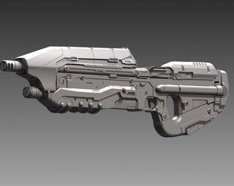 Halo 5 Assault Rifle Model H4-MA5D ICWS