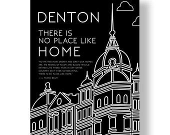 Denton Square Print Black and White