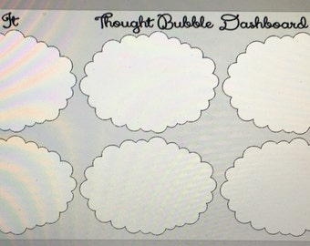 Thought Bubble Stickers for Planner Dashboard ECLP Mambi Inkwell Press Filofax Kikki K Happy Life Planner