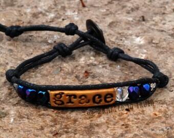Check glass tiny truth bracelet - grace