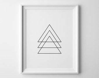 Geometric Art, Triangle Prints, Triangle Art, Modern Print, Printable Triangles, Geometric Poster, Triangles Wall Art