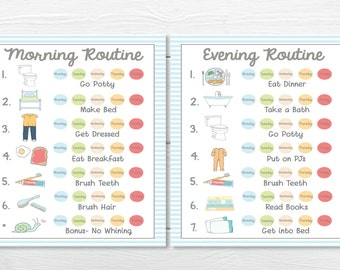 PRINTABLES- WEEKLY (5 Day)- Young Child/Toddler Boys Chore Chart