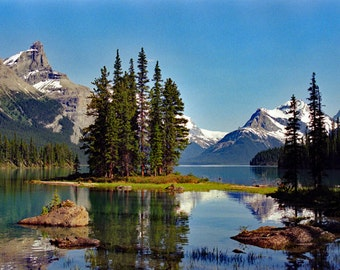 Spirit Island, Jasper  National Park in the Canadian Rockies