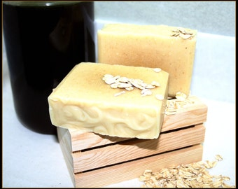Goat Milk Honey and Oats Soap