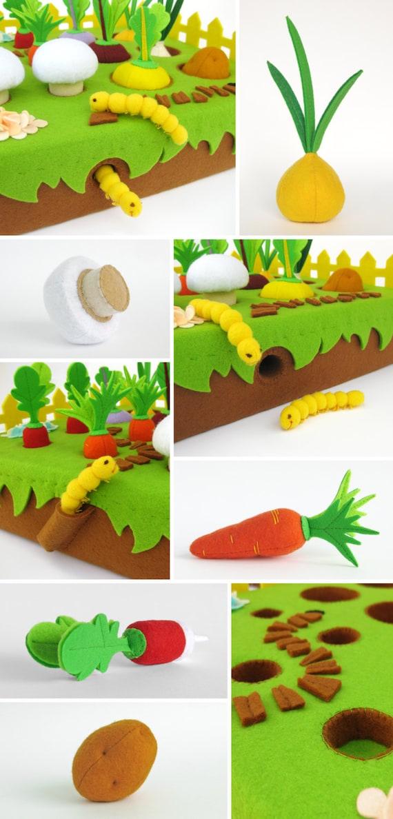 jeu du jardin de l gumes joue ensemble cadeau enfant par myfruit. Black Bedroom Furniture Sets. Home Design Ideas