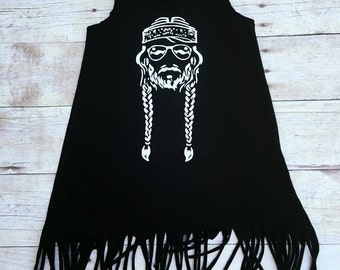 Willie Nelson Fringe Dress