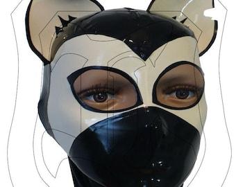 "LaTeX rubber hood / mask ""CAT"""