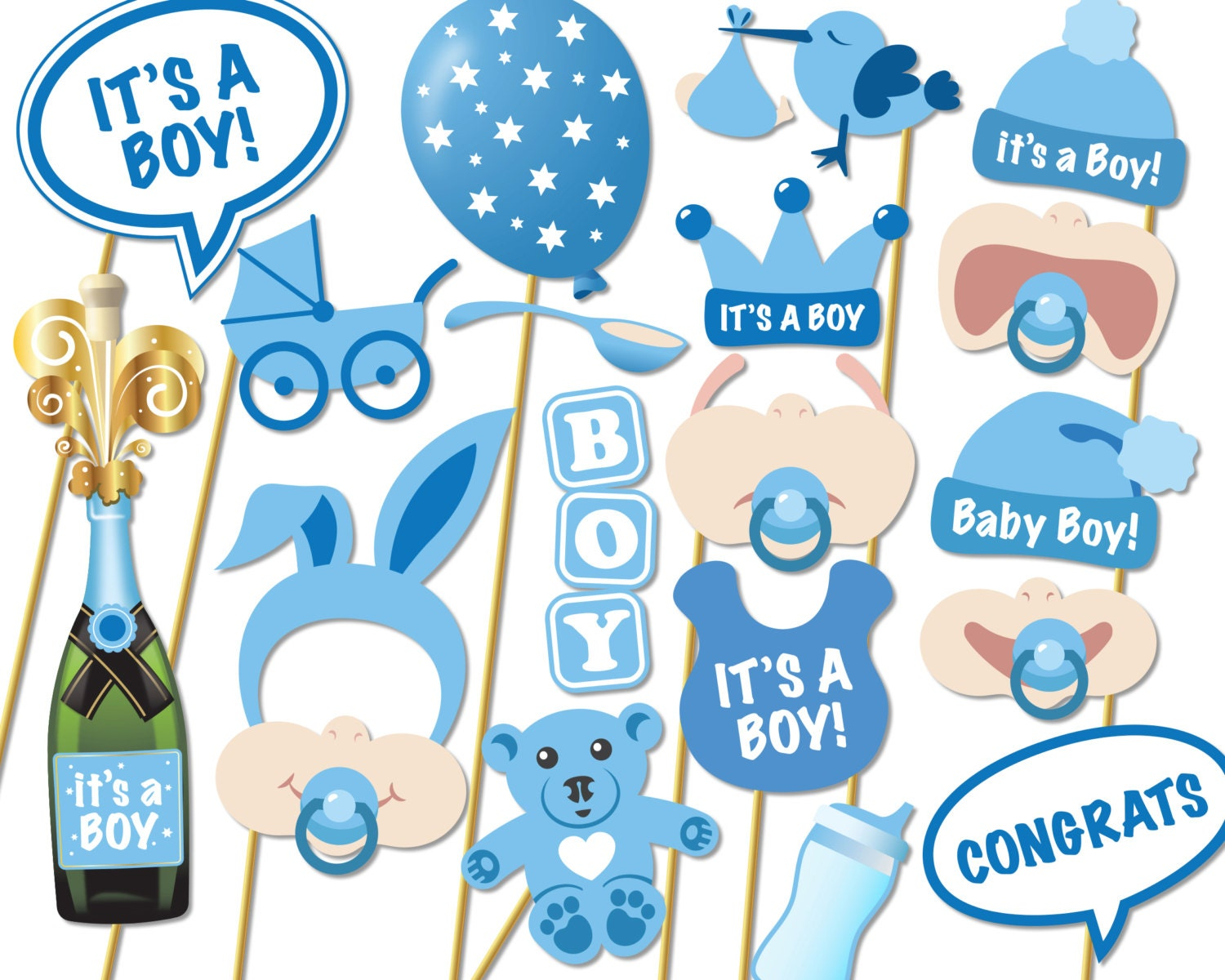 baby shower photo props it 39 s a boy photo booth props