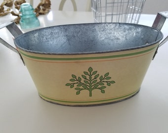 Vintage Galvanized Metal Caddy with handles
