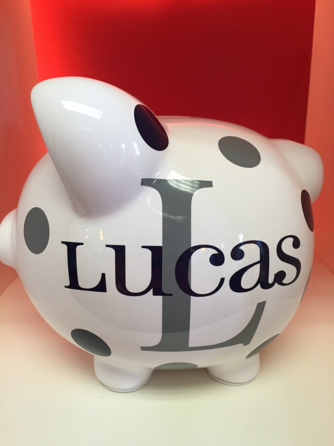 Children's Personalized Ceramic Piggy Bank-Piggy