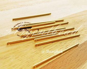 10 pcs of tube bar bead 2x51mm raw brass AG000163 bridal accessories