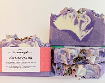 Lavender Fields Silk Cold Process Soap Bar