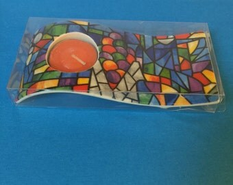 Barcelona Spain Mosaic Tea Light Candleholder