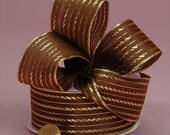 """Twisted Line Fabric Wired Ribbon, Brown Ribbon, Autumn Ribbon, Fall Ribbon,  2-1/2"""" wide  10 yards per roll"""